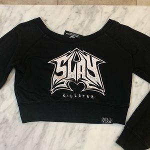 Sold Killstar Slay Crop Sweater
